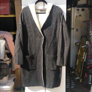 BlankNYC Hooded Cardigan Coat